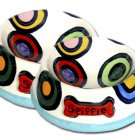 Spiffie - Large Dog Bowl Set - Haindpainted - Personalized