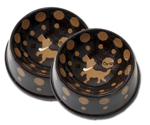 Crunchtime - Large Dog Bowl Set - Haindpainted - Personalized