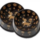 Crunchtime - Large Dog Bowl Set - Haindpainted - Personalized