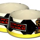 Feed Me! - Set Of Large Dog Bowls - Handpainted - Personalized