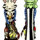 Pet Cat Urn - A Cats Life Pet Urn - Handpainted - Personalized