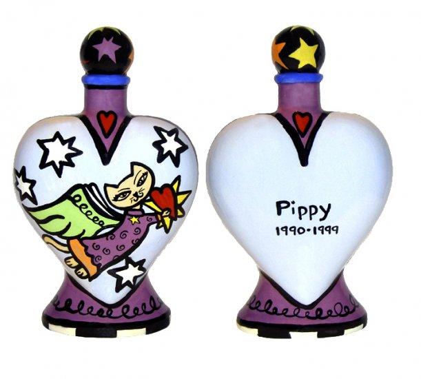 Cat Urn - Pet Cat Urn - Heavens Best Cat Heart Urn - Personalized - Handpainted