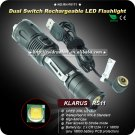 Klarus RS11 LED Flashlight Cree XM-L U2 Waterproof Outdoor 1x 18650 Dual Switch Rechargeable Torch