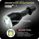 ARCHON D10XL 3 Mode 860 LM CREE XML U2 LED Diving 18650 Battery Diver Underwater Diving Torch