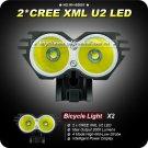 1 Set bike light Cree XML U2 LED 2000 Lumens Bicycle Light+Power Indicate Waterproof Battery Pack