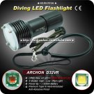 Diving Flashlight ARCHON D32VR CREE XM-L U2 + XP-E N3 LED Most Powerful Torch