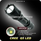 ARCHON A10 Flashlight CREE Q5 LED Torch 5 Mode 300LM 14500 Battery Camping Hiking Torch