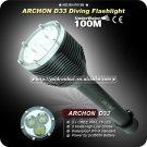 Professinal Diving Flashlight ARCHON D33 3 Mode 3000 LM 3xCREE XML T6 LED Diving 3x26650 Battery