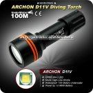 ARCHON D11V 860LM 3 Mode 100m Underwater 18650 Power Indicate Light Diving Flashlight Video Light
