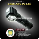 U2 LED 18650 450Lumens Power Indicate EDC Flashlight Hiking Camping Professional Outdoor Torch