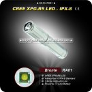 Bronte RA01 R5 80LM 3-Mode LED White Light Keychain Flashlight (1 x AAA) Mini Camping Hiking Torch