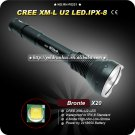 Flashlight 4 Mode 800 Lumens CREE XM-L U2 LED 18650 Battery Waterproof IPX-8 High Power Torch