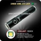 7G3CS Tactical LED Flashlight 500 Lumens 7CREE XM-L U3 LED 18650 Battery Waterproof High Power Torch