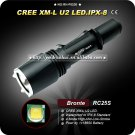 Bronte RC25s U2 LED 700LM 4 Mode 18650 Battety Durable Aircraft-grade Aluminum LED Flashlight Torch