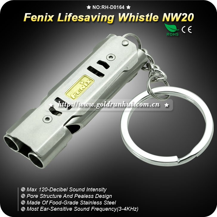Fenix NW20 Lifesaving Emergency Survival SOS Stainless Steel Whistle 120db