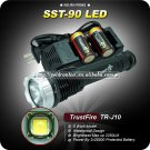 1Set TrustFire TR-J10 SST-90 5 Mode 2250 LM White LED Memory Flashlight+2*25500 Battery+1 charger