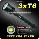 1PC Trustfire 3T6 5 Mode 3800 Lumens 3x CREE XM-L XML T6 LED Flashlight Extendable High Power Torch