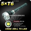 1PC Trustfire TR-J16 5 Mode 5*Cree XML T6 4000 Lm LED Flashlight 18650 High Power Torch