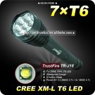 1PC Trustfire TR-J18 5 Mode 8000 LM 7XCREE XM-L T6 LED 18650 or 26650 Battery High Power Torch
