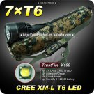 1 PC Trustfire x100 Flashlight 5 Mode 8000 Lumen 7 x CREE XM-L T6 LED Flashlight+Camo Bag