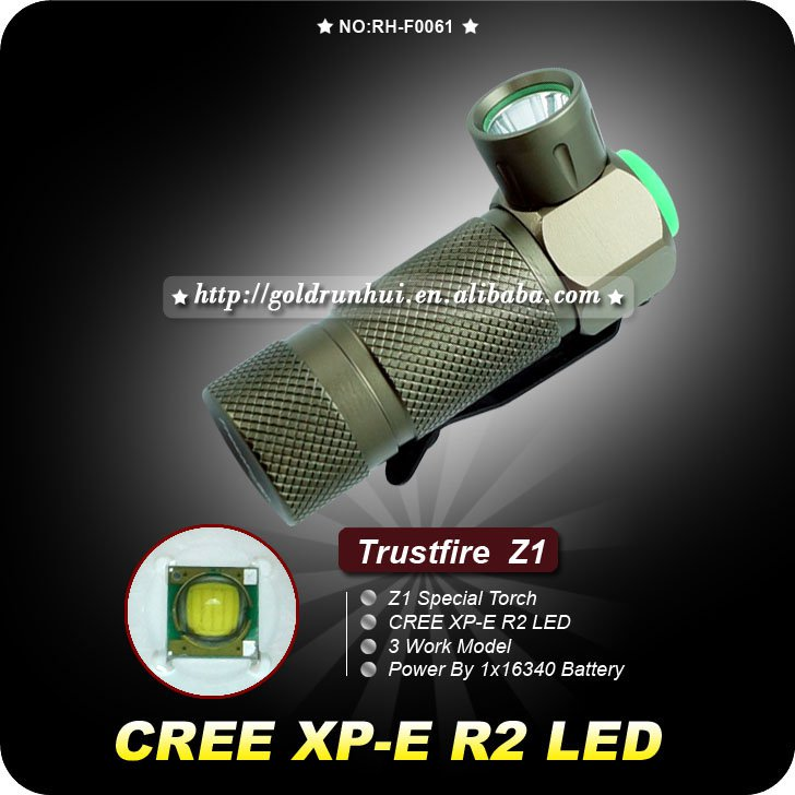TrustFire Z1 Cree Q5 3-Mode 280-Lumen LED Flashlight Aluminum Waterproof Mini Camping Torch