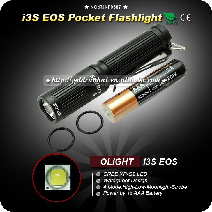 1PC Olight i3s EOS Cree XP-G2 LED 4-Modes Waterproof 80 Lumens AAA EDC Keychain Flashlight