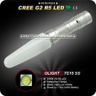OLIGHT TC15SS 125LM 3 Mode Cree XP-G2 R5 LED AA 14500 Camping Hiking Stainless Steel LED Flashlight