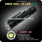 1PC Olight S20 Flashlight 6 Mode CREE XM-L T6 LED 18650 Battery Aluminum III IPX-8