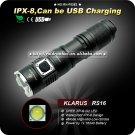 1PC KLARUS RS16 Flashlight Cree XP-G2 LED 4 Mode 1 x 16340 Battery Waterproof torch