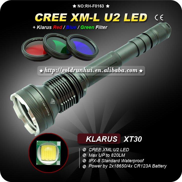 1PC Klarus XT30 Cree XM-L U2 4-Mode LED Waterproof Outdoor 2x 18650 Flashlight