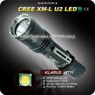 1PC KLARUs U2 LED Flashlight 600Lumens 4 Modes 18650 Battery Hunting Military Flahlight