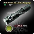 1PC KLARUS RS1A Flashlight Cree XP-G2 LED 4 Mode By 1 x AA Battery Waterproof