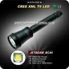 1PC JETBeam BC40 Flashlight 2 Mode CREE XML LED Flashlight 18650 Battery