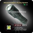 1PC JETBeam DDC10 Flashlight Digital Display 285 Lumen Cree G2 LED 285 Lumen Waterproof