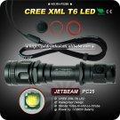 1PC JETBEAM PC25 Flashlight 5 Mode 400 Lumens CREE XM-L XML T6 LED Flashlight