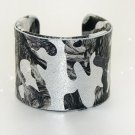 Star fashion leather bracelet painted adjustable free shipping -zp013