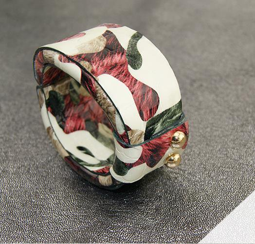 Fashion star horses painted leather bracelet color adjustable free shipping -zp015
