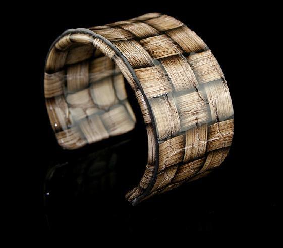 Exquisite decorative painting bamboo elastic adjustable leather bracelet free shipping -zp029