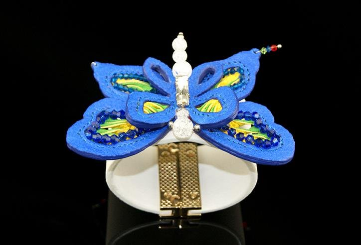 Sheepskin fashion bracelet female models painted butterfly decoration trend strap gift free shipping