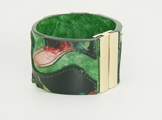 Classic fashion leather bracelet painted green lane beautiful gift free shipping -zp042
