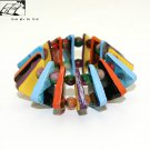 Original unique beautifully lit Liduominuo domino leather bracelet free shipping -zp073