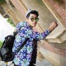 Autumn holiday gift Slim hooded jacket male fashion plus fertilizer XL students NY001