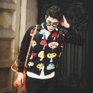 Cool holiday gift nightclub Slim casual fashion cotton jacket collar male student space NY003