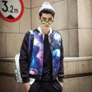 Cool holiday gift nightclub Slim casual fashion collar jacket with starry male students -NY004