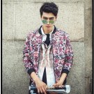 idjewelry cool holiday gift flower fashion Slim casual jacket collar jacket male students NY009-1