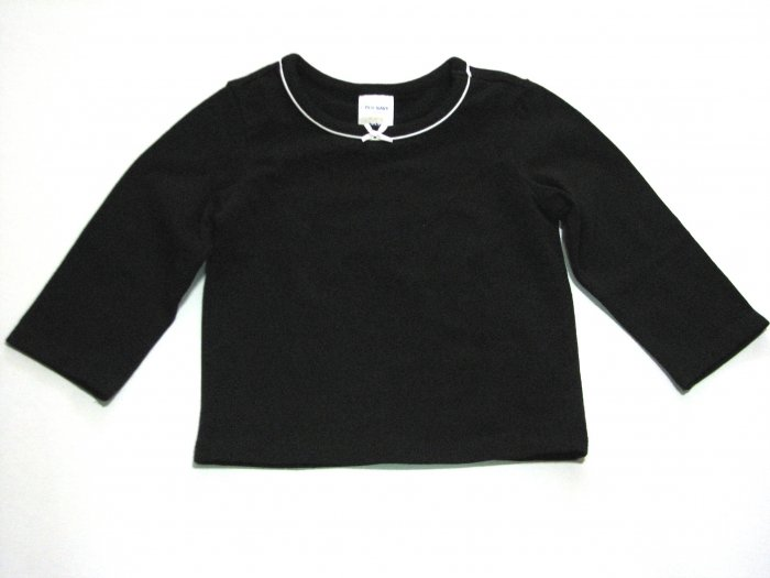 Long Sleeve Bow shirt (black)