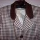 Womans LOT Houndstooth Blazer 8 Cream Pleat Skirt 10