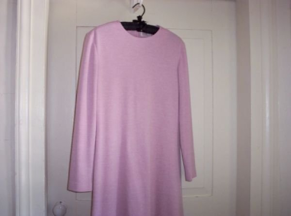 Vintage Classic R & K Pink Knit Dress SM Washable