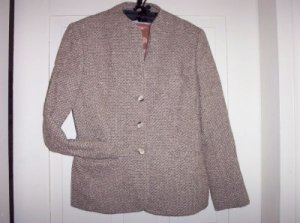 Ladies Vintage EVAN PICONE Boucle Tweed Blazer Jacket 10