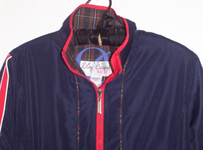 Vintage OC Oleg Cassini Jacket WindBreaker Navy PS